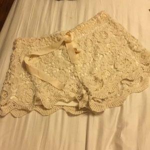 Full Tilt crochet shorts XS